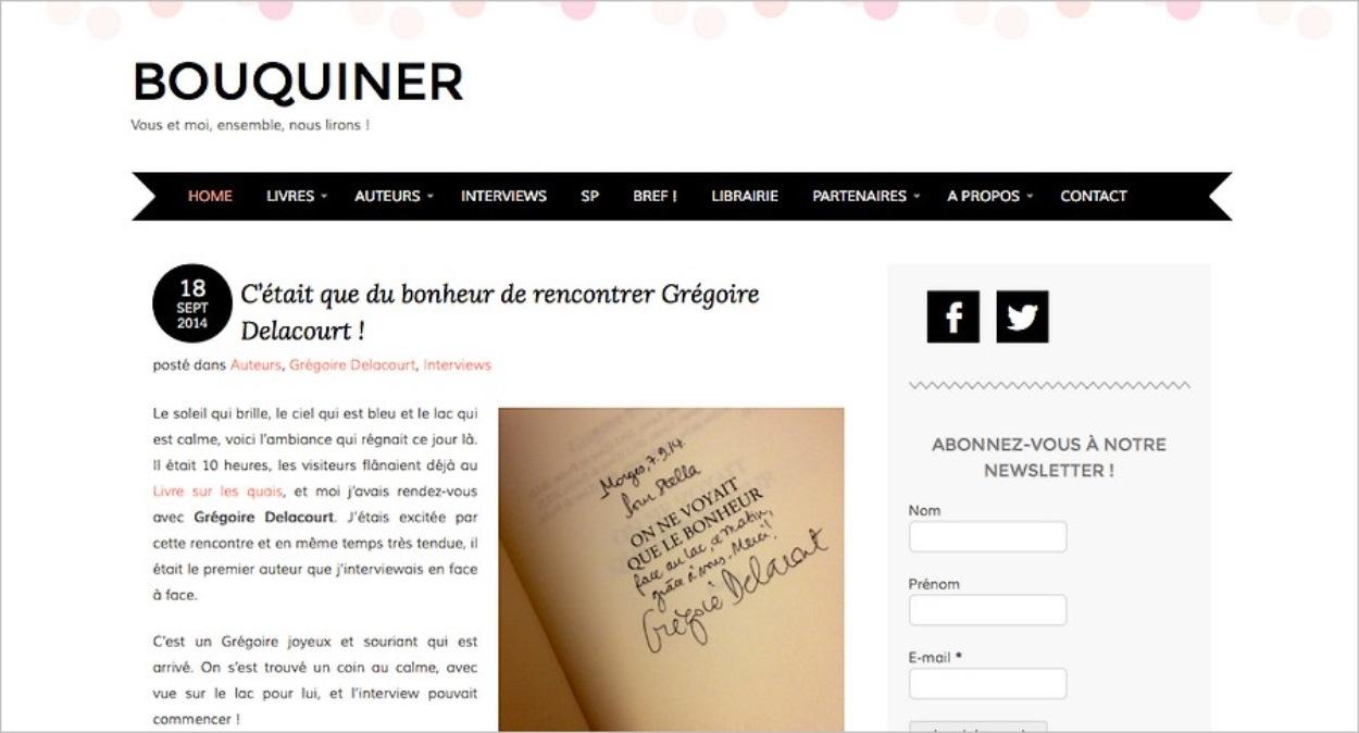 Le blog littéraire Bouquiner