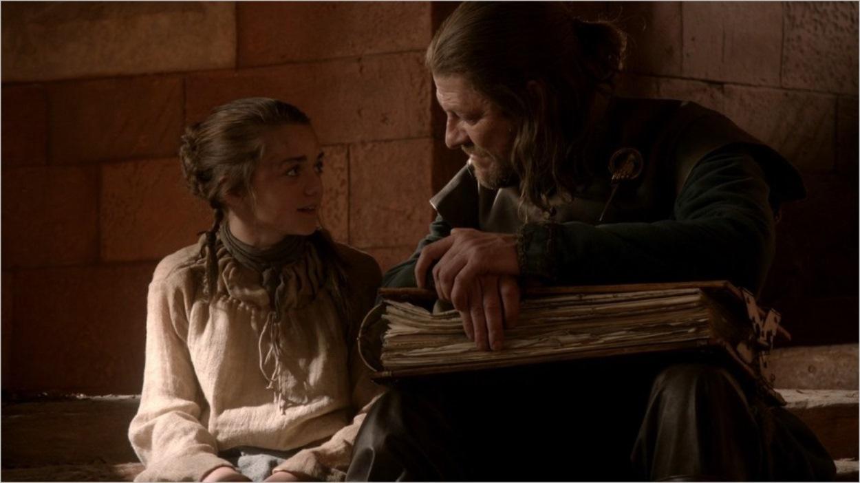 Arya Stark et son père Ned