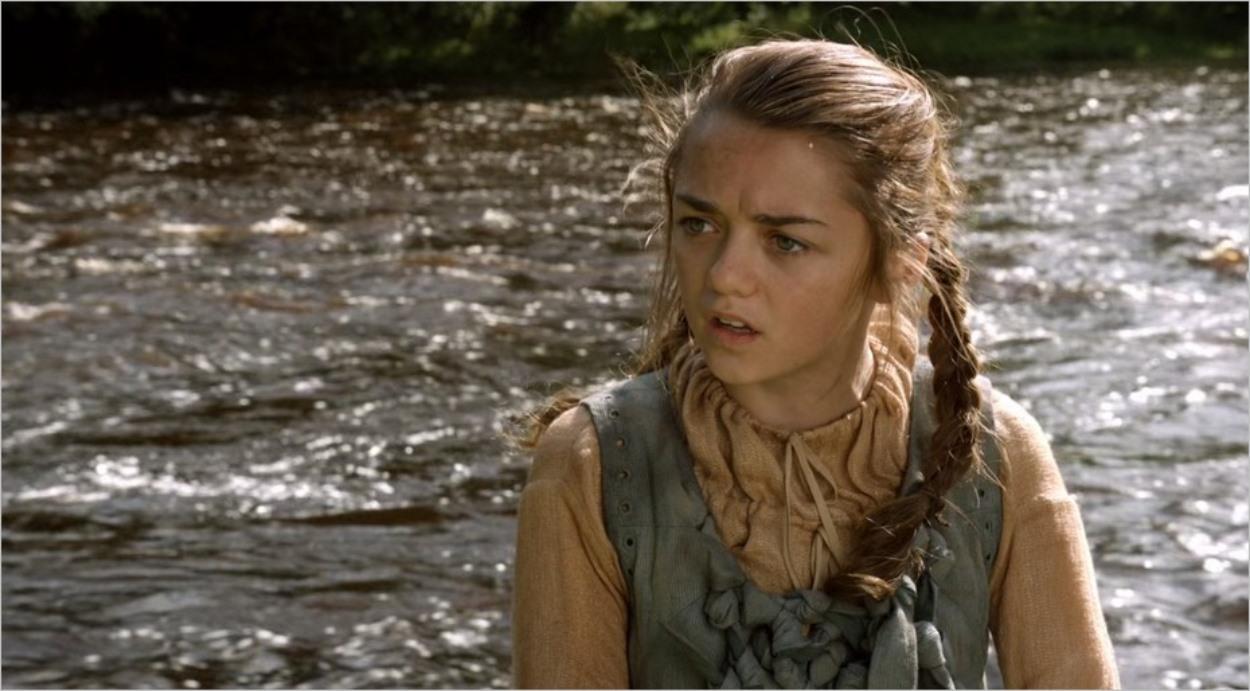 Arya révoltée au bord de la rivière - Saison 1 épisode 2 de Game Of Thrones
