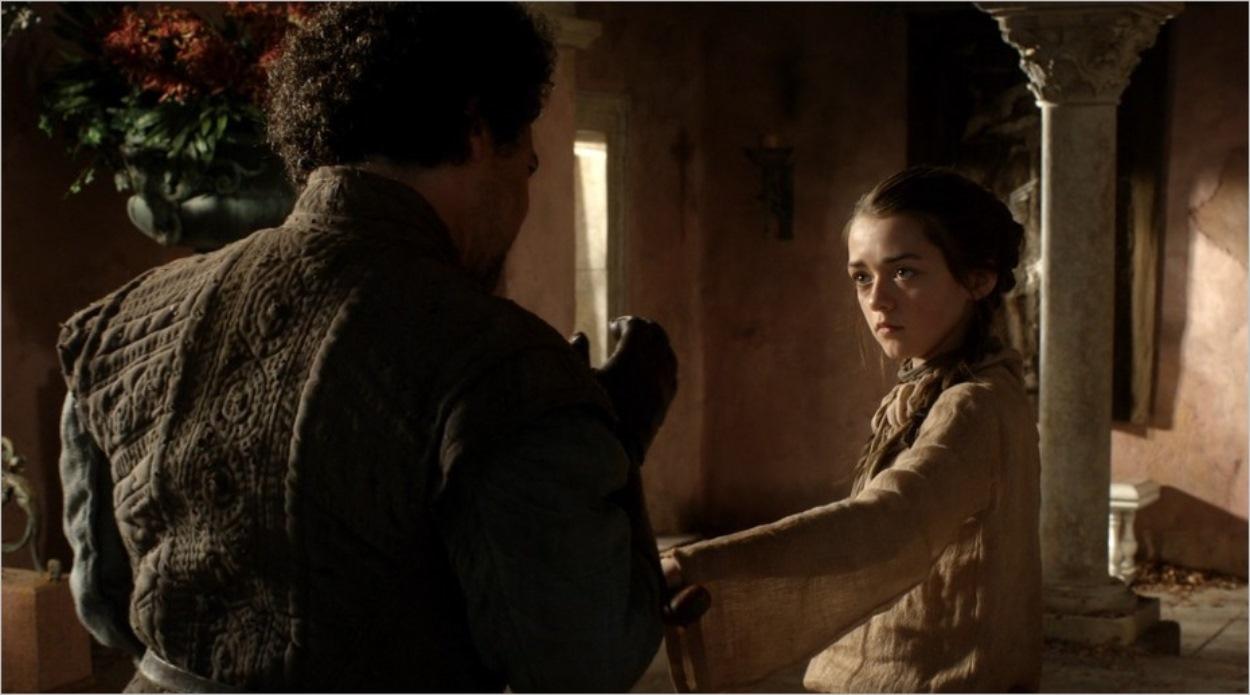 Arya Stark et Syrio Forel