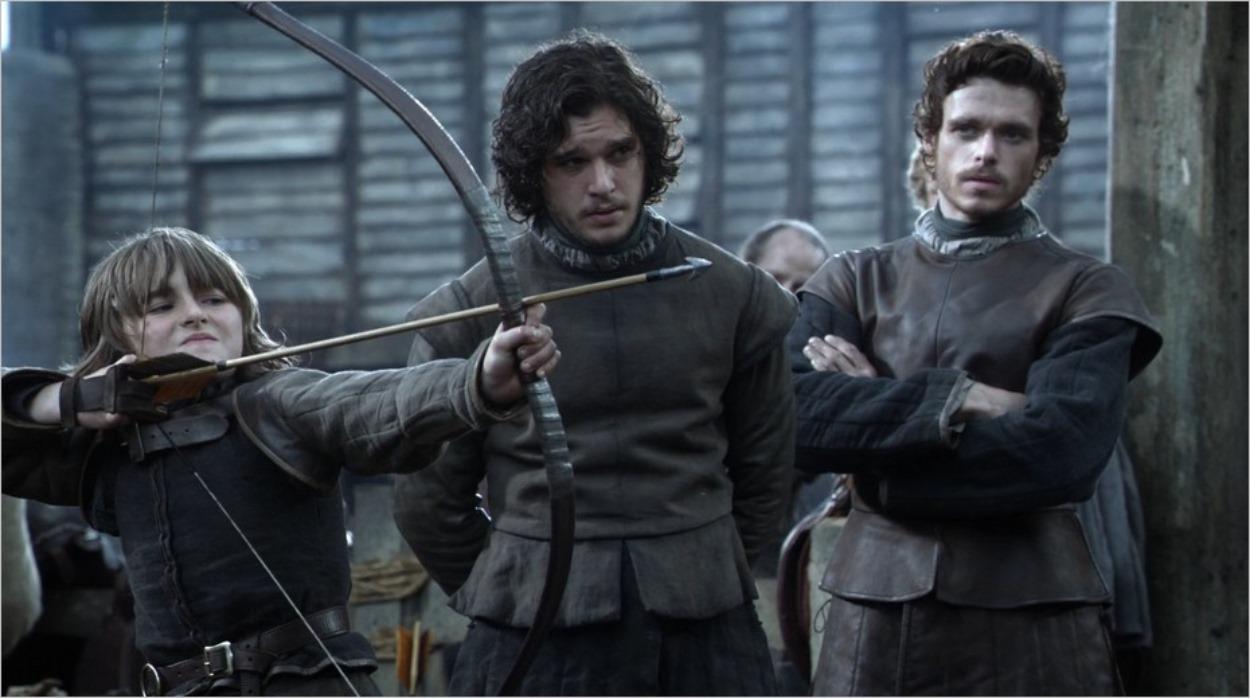 Bran Stark, Jon Snow et Robb Stark