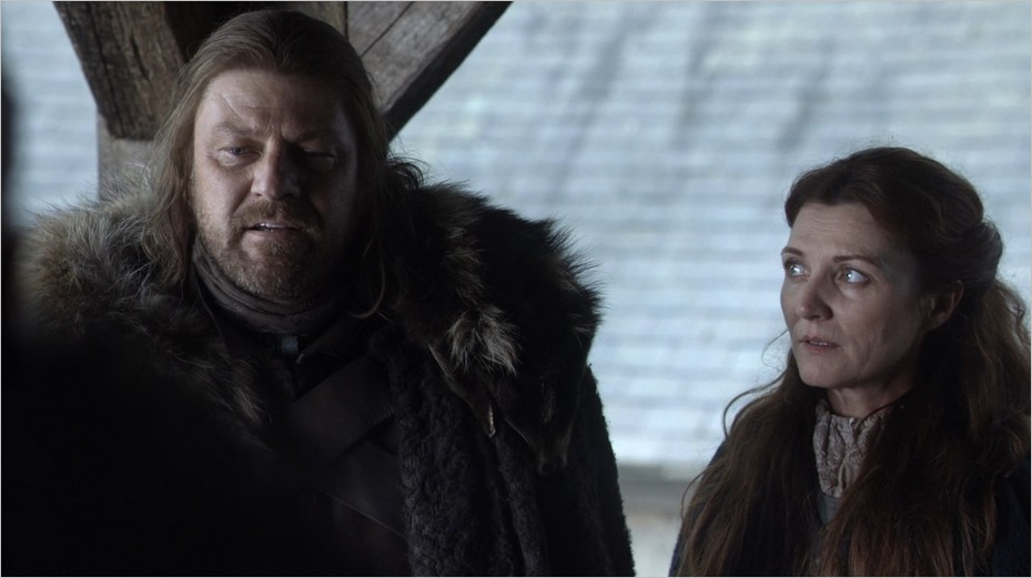 Ned et Catelyn Stark - Game Of Thrones épisode 1 saison 1
