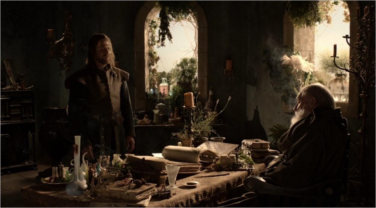 Ned Stark avec Mestre Pycelle - Game Of Thrones