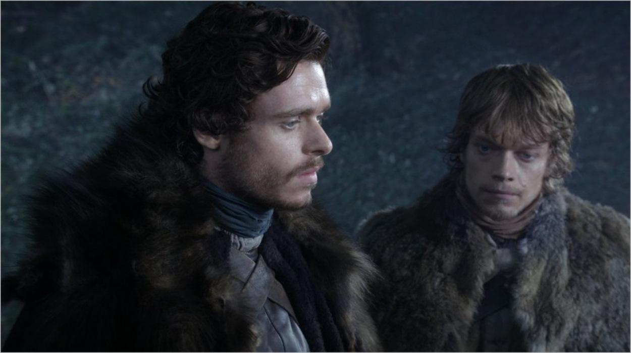 Robb Stark et Theon Greyjoy dans le bois sacré