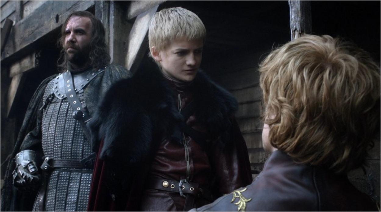 Sandor Clegane, Joffrey Baratheon et Tyrion Lannister