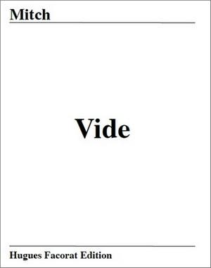 Vide, de Mitch : recueil de poésie