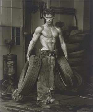 Fred with tires - Herb Ritts