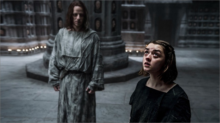 Arya Stark avec Jaqen H'ghar - Game Of Thrones
