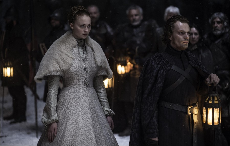 Sansa Stark le jour de son mariage - Game Of Thrones