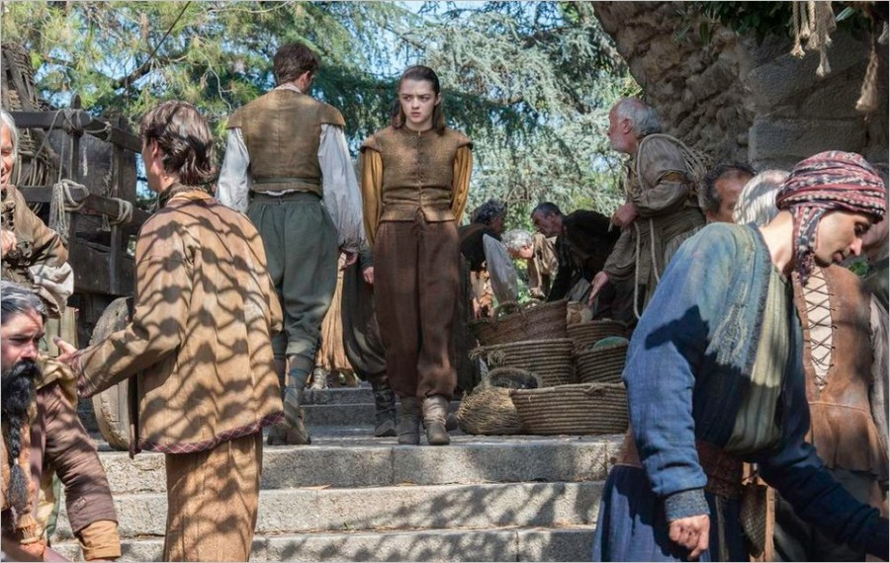 Arya Stark dans Game Of Thrones saison 6 épisode 7