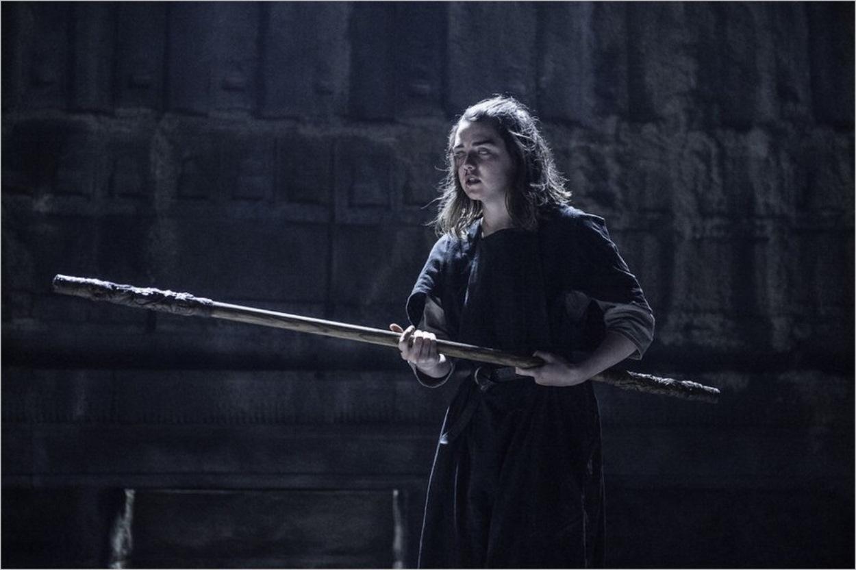Arya Stark dans la Demeure du Noir et Blanc - Game Of Thrones