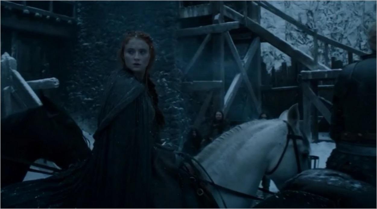 Sansa Stark arrive à Châteaunoir dans Game Of Thrones saison 6 épisode 4