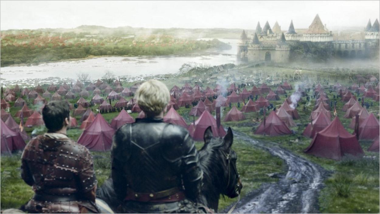 Brienne de Torth et Podrick Payne à Vivesaigues