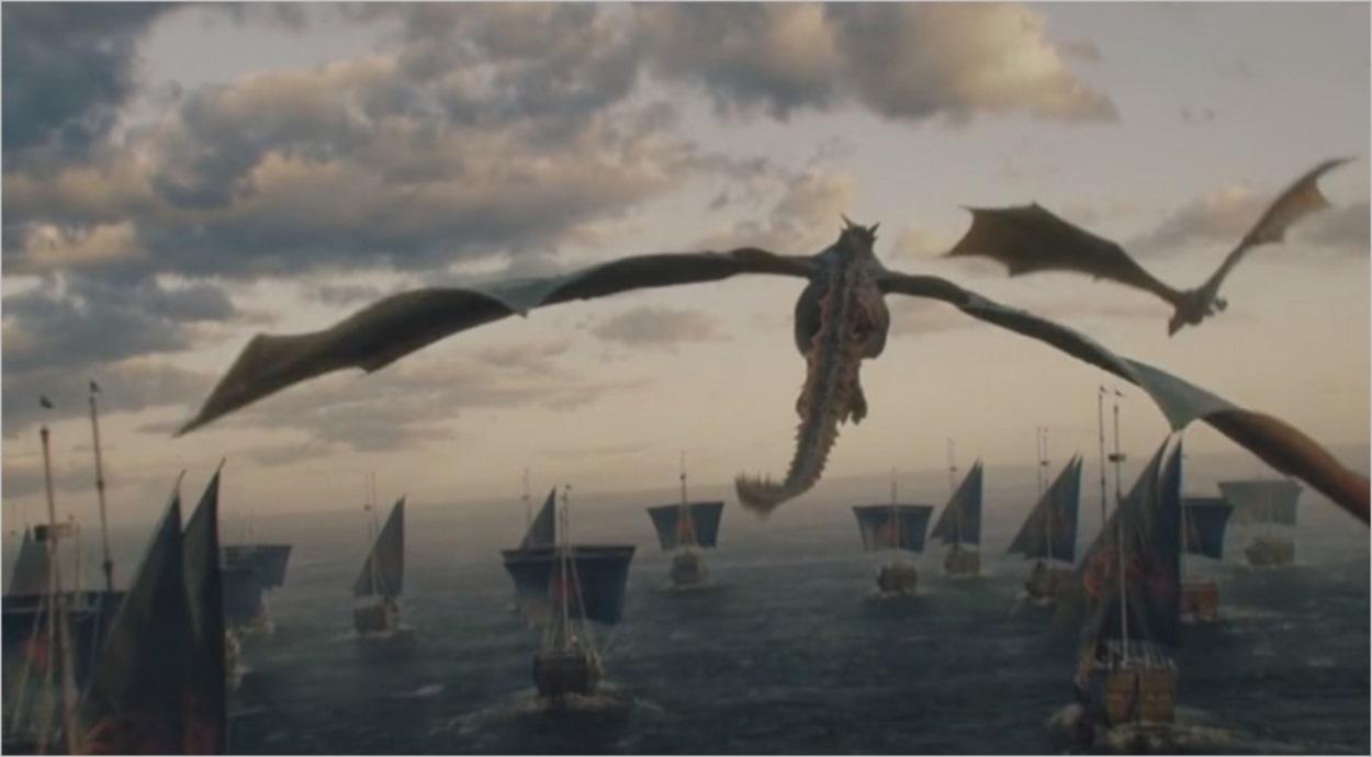 La flotte de Daenerys en route vers Westeros