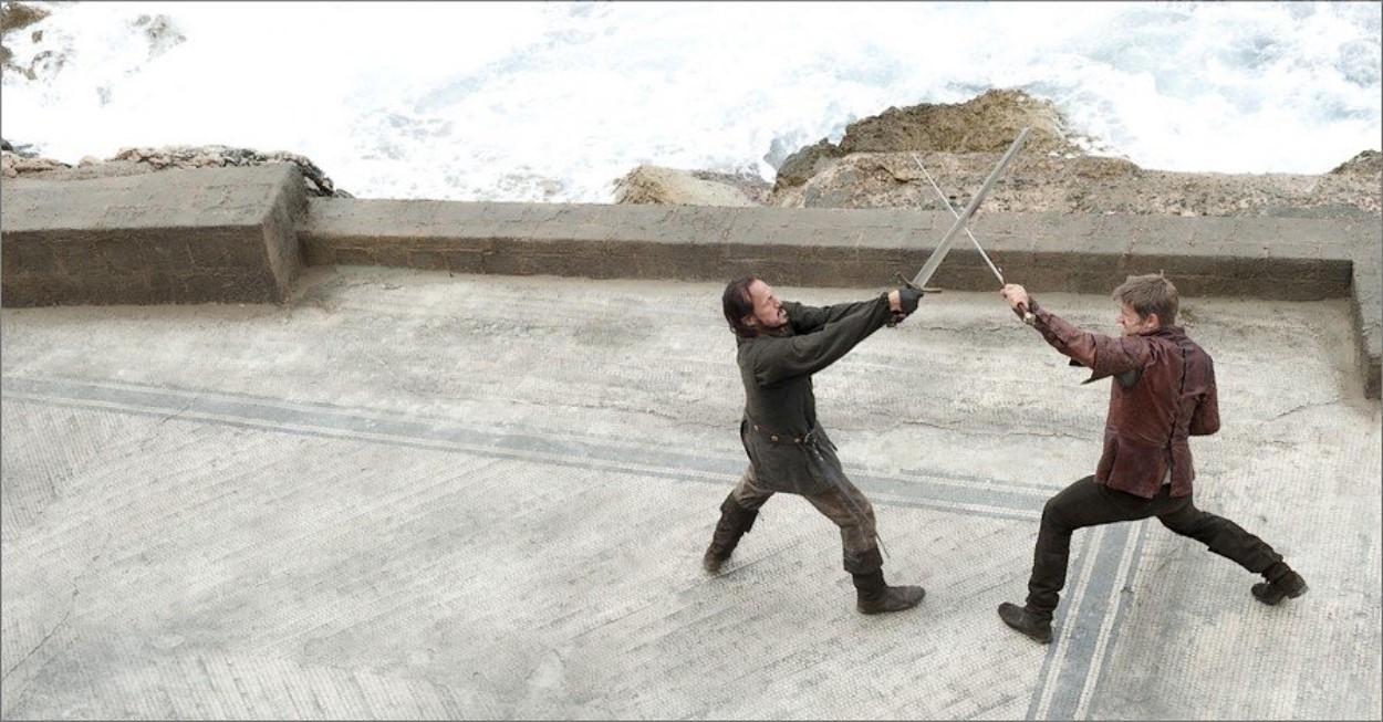 Jaime Lannister s'entraîne avec Bronn