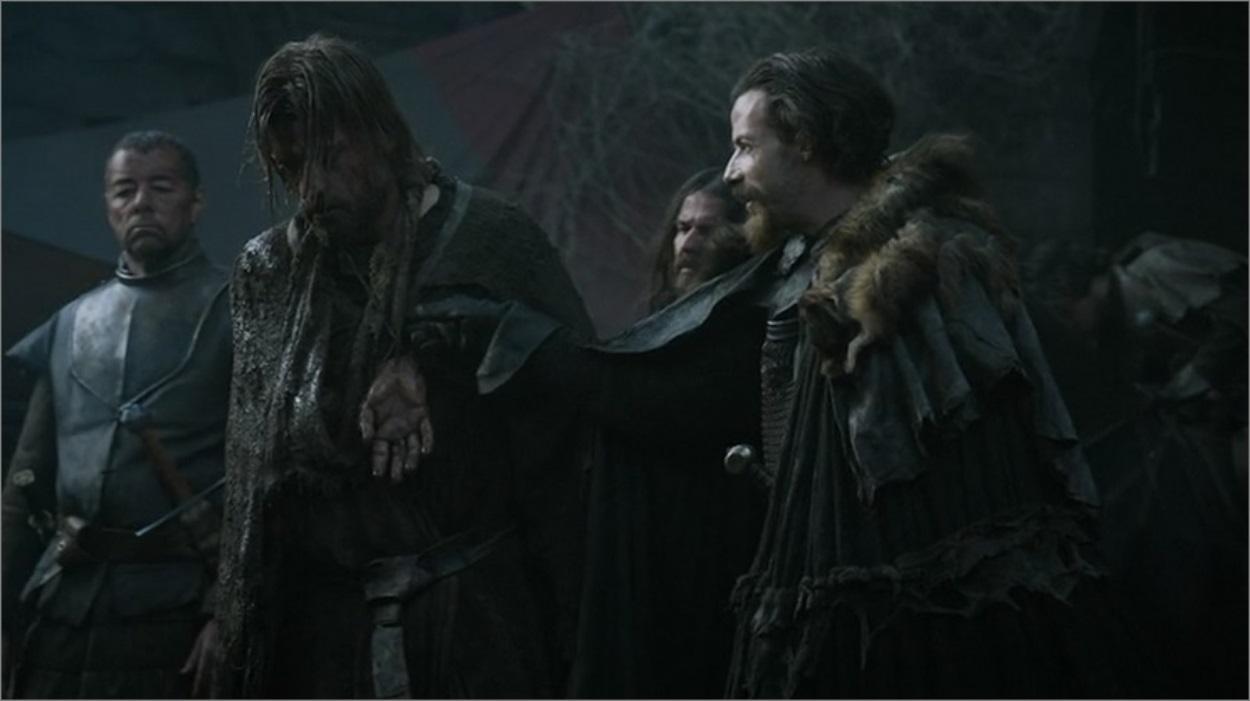 Locke avec Jaime Lannister dans Game Of Thrones saison 3 épisode 4