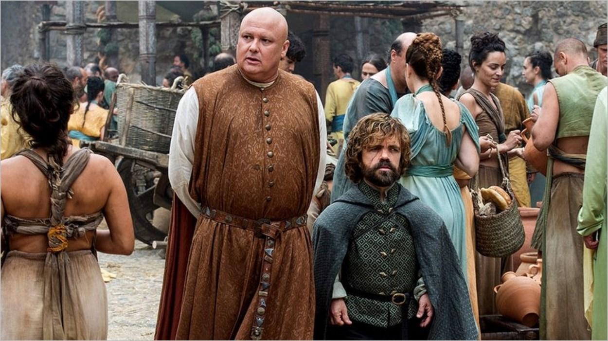 Varys et Tyrion à Meereen dans Game Of Thrones saison 6 épisode 8