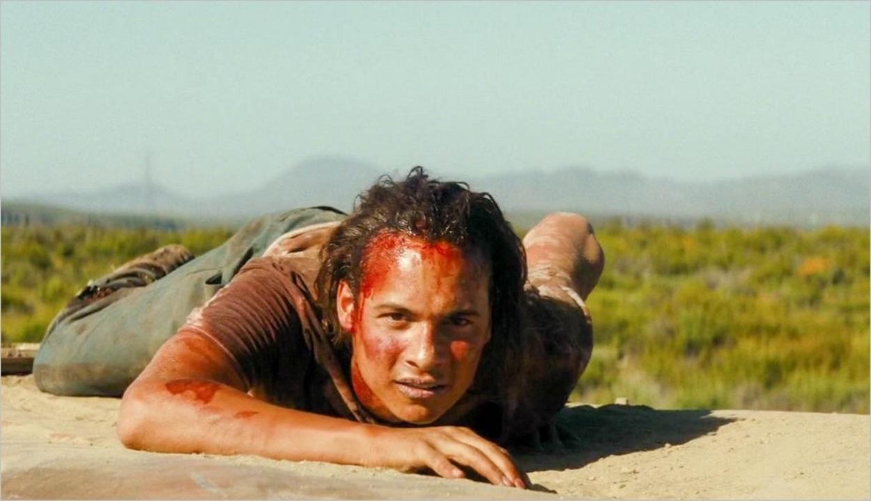 Nick, blessé à la jambe, se réfugie sur le toit d'une voiture
