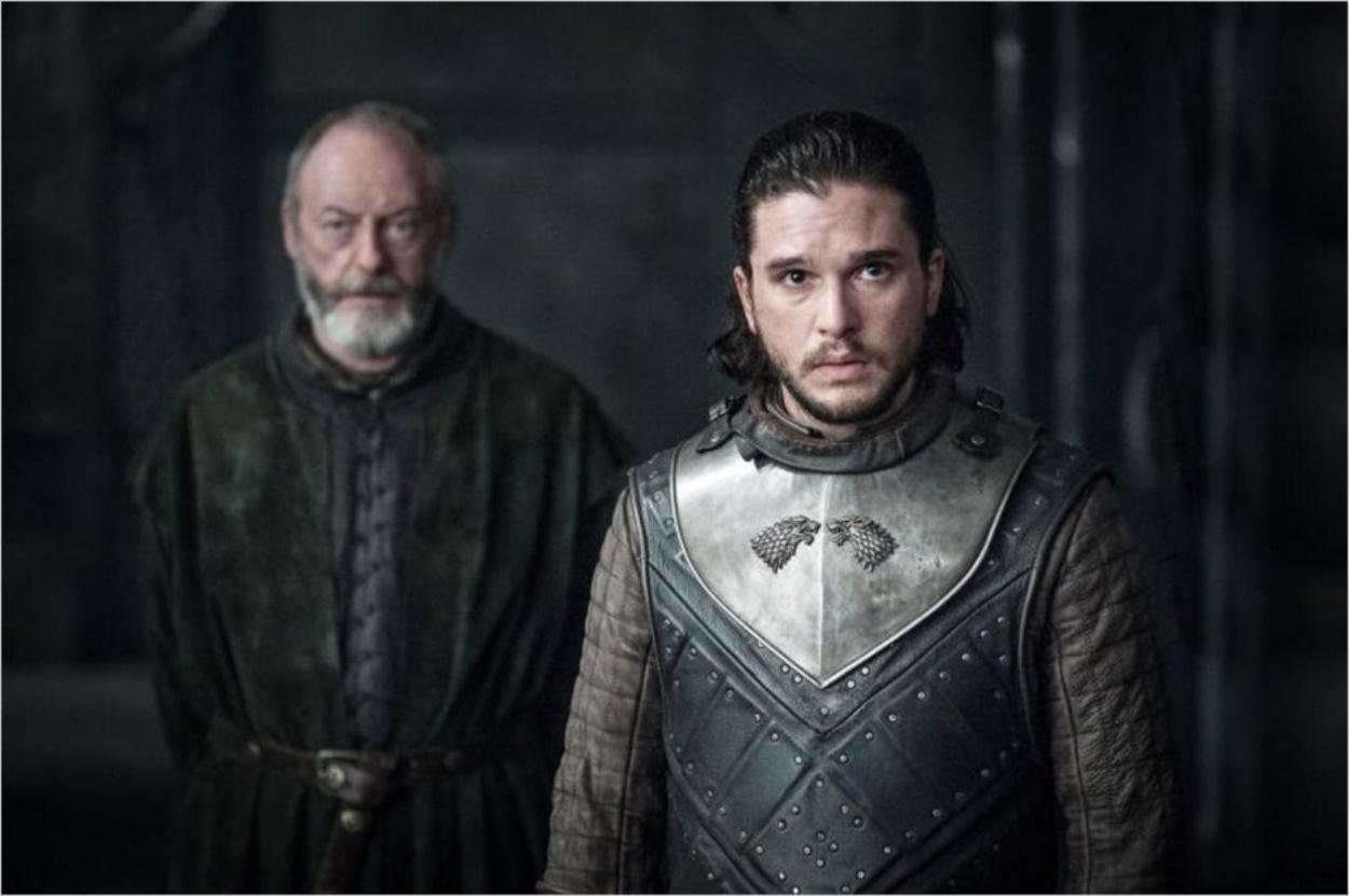 Jon Snow et Davos Mervault