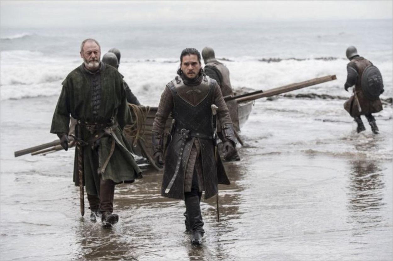 Jon Snow et Davos en mission