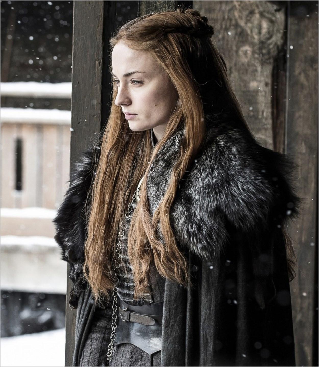 La jolie Sansa Stark dans Game Of Thrones saison 7 épisode 2