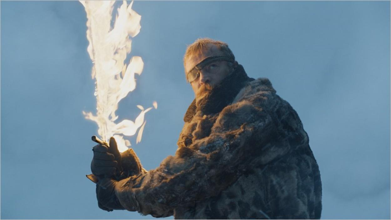 Beric Dondarrion et son épée enflammée