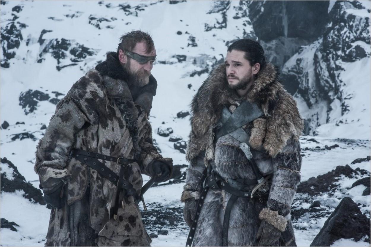 Beric Dondarrion et Jon Snow - Episode 6 saison 7