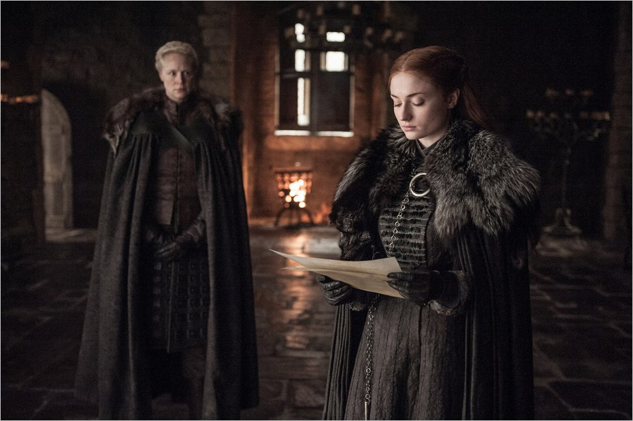 Brienne de Torth et Sansa Stark