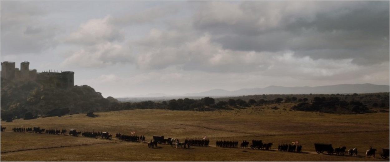 Le convoi Lannister quitte Hautjardin
