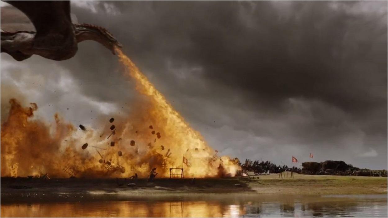 Drogon sur le champ de bataille