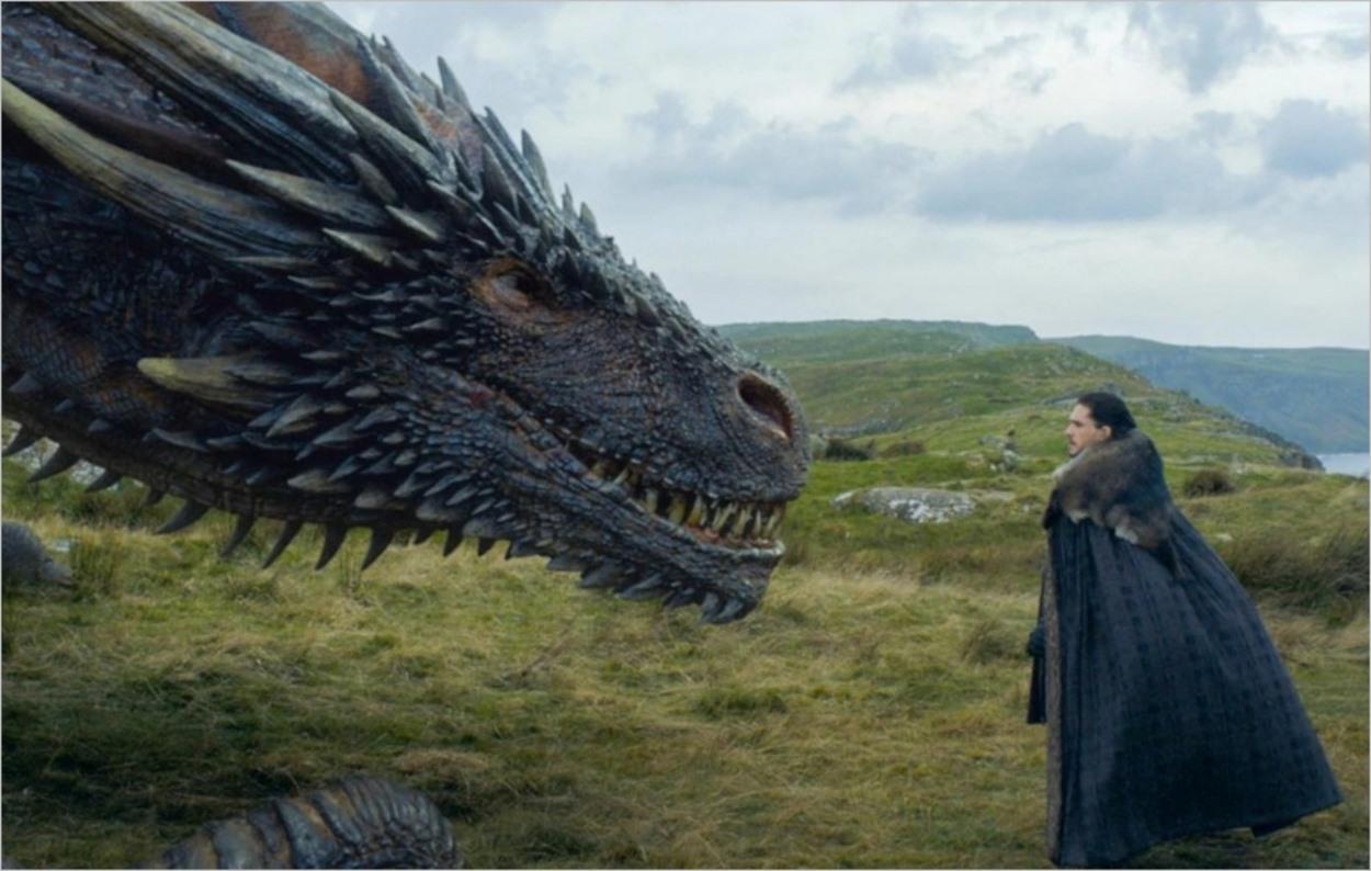 Drogon sympathise avec Jon Snow dans l'épisode 5