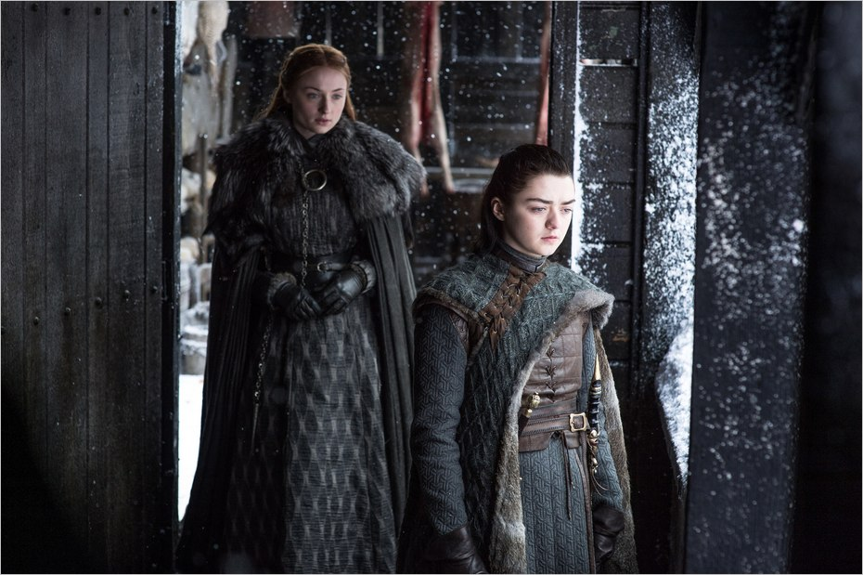 Confrontation entre Arya et Sansa Stark