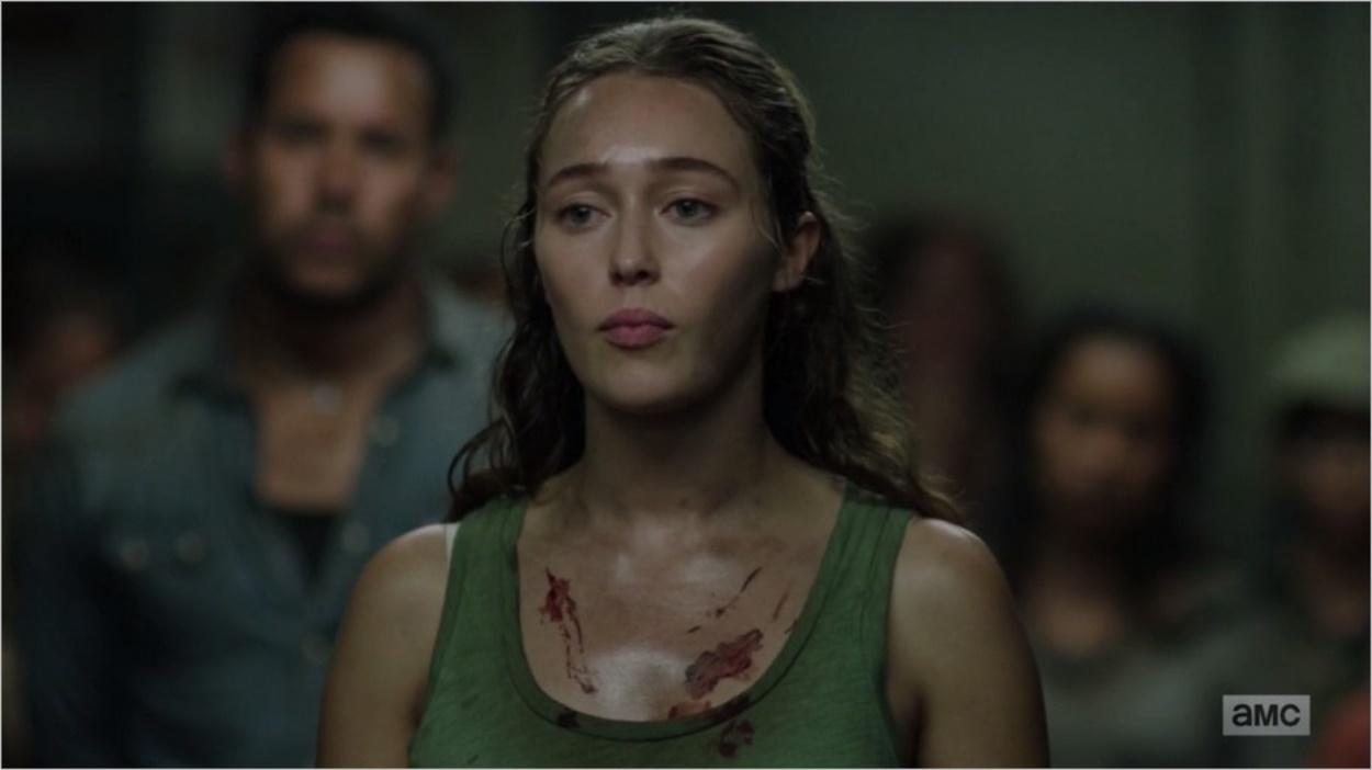 Alicia Clark prend la parole devant les réfugiés - Fear The Walking Dead épisode 13 saison 3