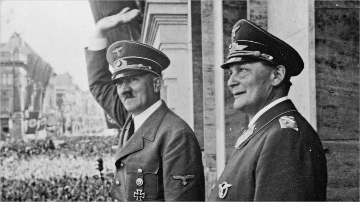 Goering et son maître, Adolf Hitler
