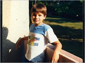 Sascha Buzmann à l'âge de 9 ans