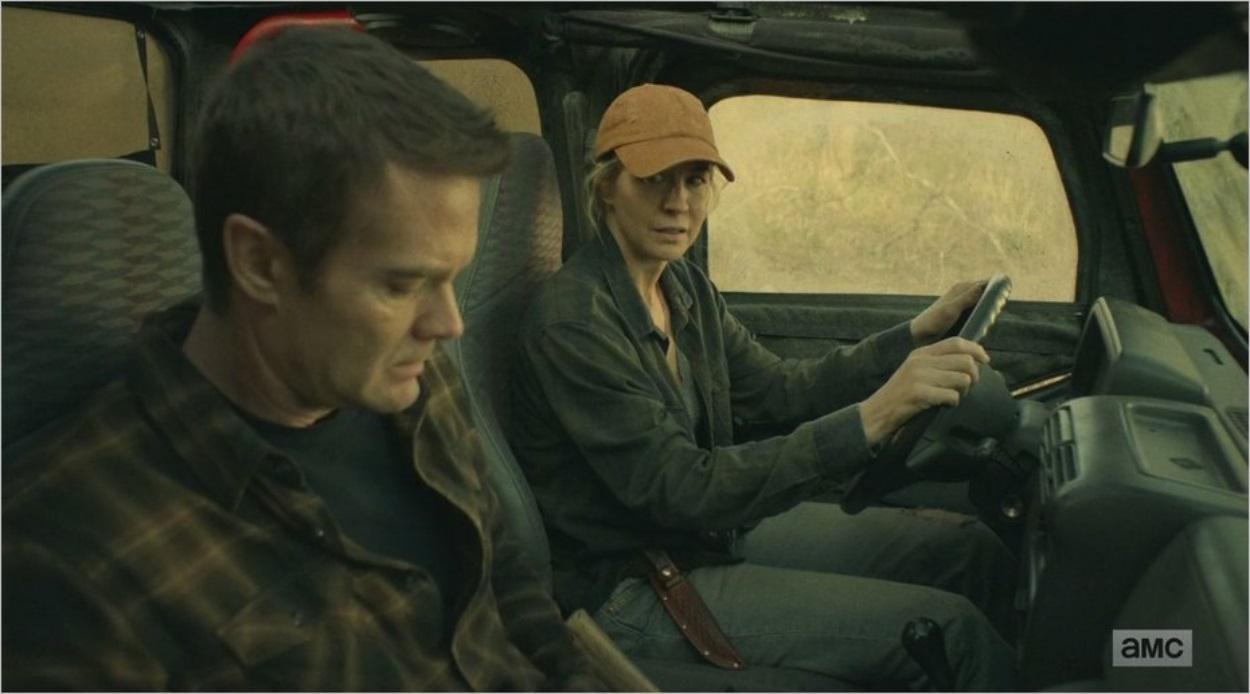 John et Naomi dans la voiture - Fear The Walking Dead saison 4 épisode 5