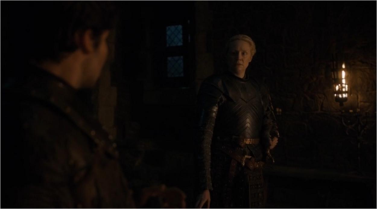 Brienne à Winterfell avant la bataille