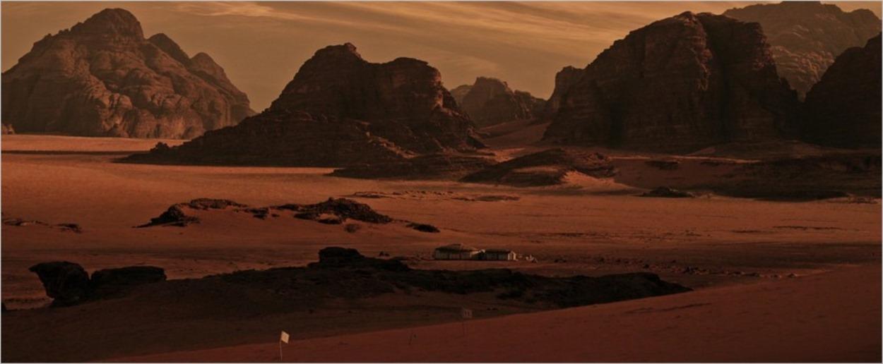 Le désert du Wadi Rum en Jordanie, lieu de tournage de Seul sur Mars