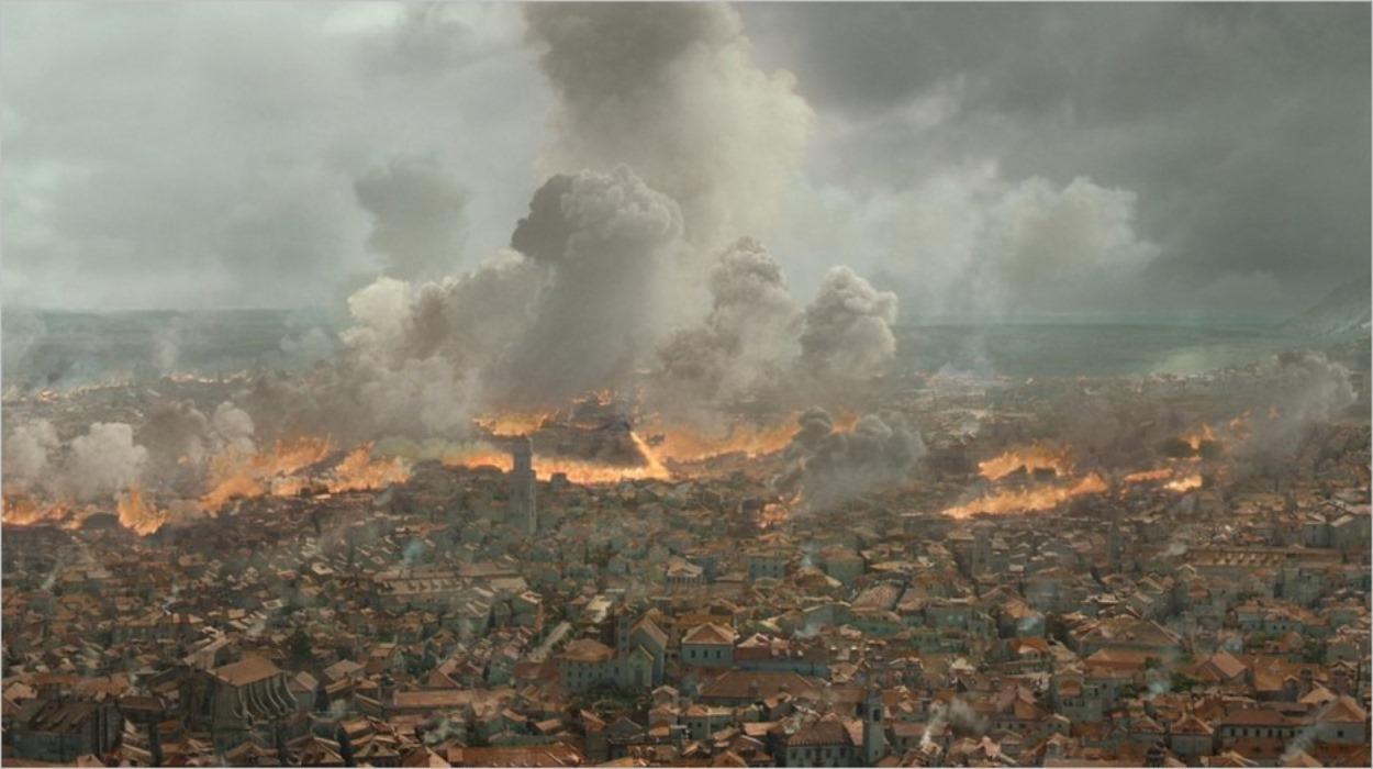 Port-Réal en proie aux flammes