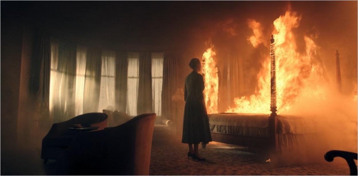 Serena lors de l'incendie de la maison des Waterford
