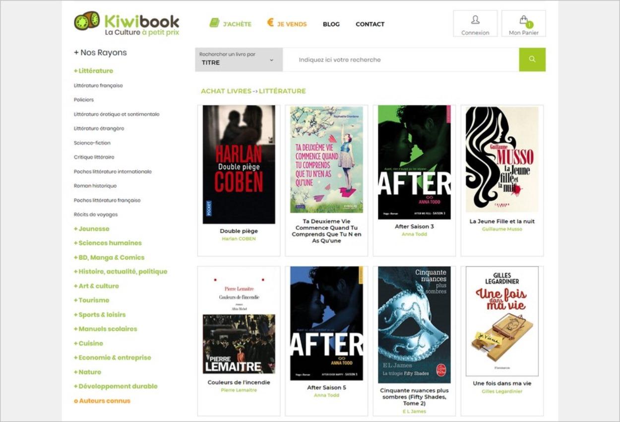 Kiwibook, un site pour acheter des livres d'occasion à petit prix