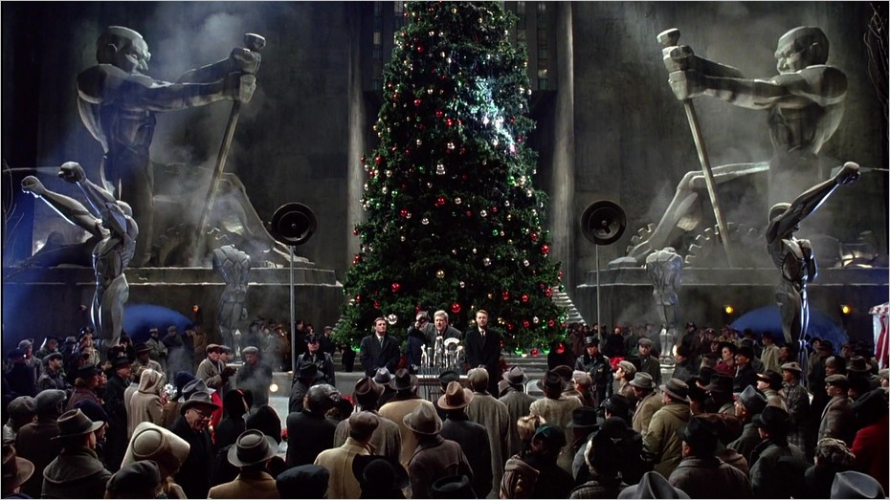 Gotham City à l'approche de Noël