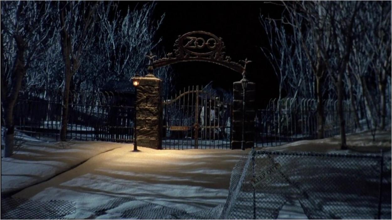 Le zoo abandonné de Gotham dans Batman Returns